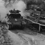 M10 advancing in Acquafondata Area Italy 1944