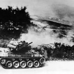 M18 Hellcat of the 805th Tank Destroyer Battalion in action in Firenzuola Italy 1945