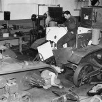 M2A4 Light Tanks assembly line at Rock Island Arsenal 1940