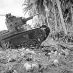 M2A4 of the 1st Tank Battalion Supports Marines on Guadalcanal 1942