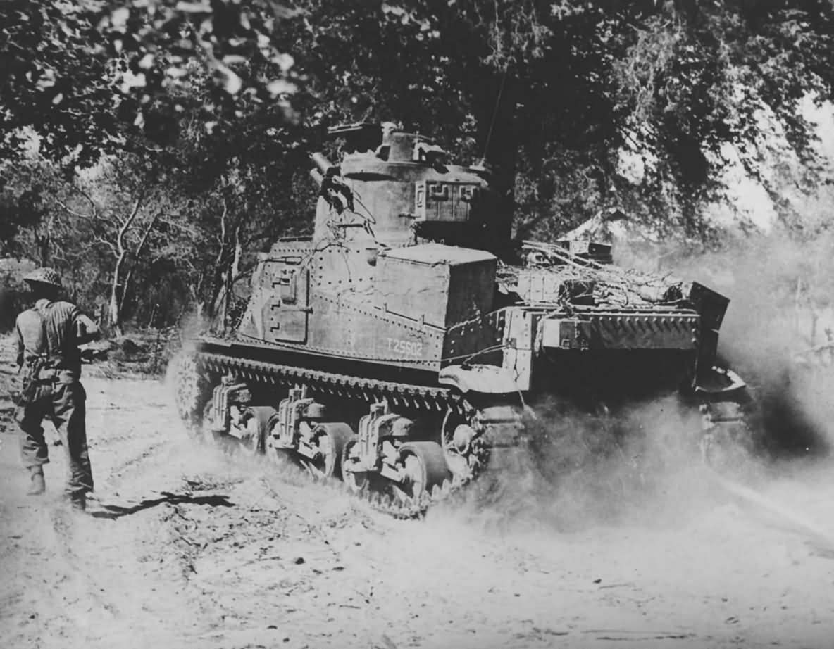 m3 lee grant tank in action burma t25602 1945
