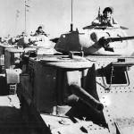 British Troops Man M3 Grant Mk I Tanks for Battle of Knightsbridge 1942