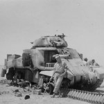 Knocked Out M3 Lee Grant Tank North Africa