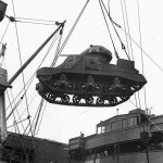 Lend Lease M3 Grant Tank Loaded on Ship at Atlantic Port August 1942