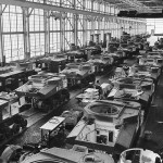 M3 Lee tanks on assembly line at the Chrysler Corporation's Tank Arsenal in Detroit 1941