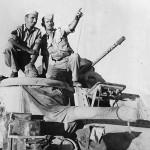 US M3 Lee Crew Atop Tank in Egyptian Desert November 1942