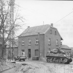 102nd Infantry Division M5 Stuart and Jeep in Rheindahlen Germany 1945