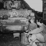 1st Armored Division M5 Stuart and Italian Civilian 1944