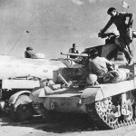 British M3 Stuart Tank Refuelled By RAF Fuel Bowser Outside Sidi Barrani 1942