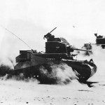 British M3 Stuart Tanks Of 8th King's Royal Irish Hussars At Gazala 1942