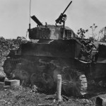 Destroyed M5A1 Stuart Tank of KIA Captain Denig Namur Island Kwajalein 1944