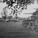 M3 Stuart Tank And Gi With Sniper Rifle In Eto 1944