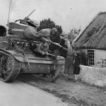 M3 Stuart US Tank Crew Stops For Drink At Irish Farm House