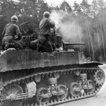 M5 Stuart Dessau Germany 1945