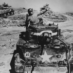 US Army In England D Day Training M4 Sherman And M5 Stuart Tanks 1944