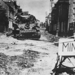 US M5 Stuart Tank Knocked Out By German Land Mine In Coutances 1944