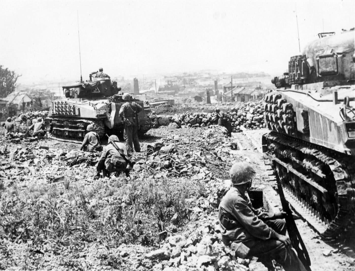 M4 Sherman tank Pacific   World War Photos