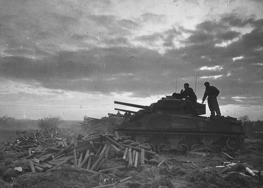Second British Army Gangelt Geilenkirchen M4 Sherman Tank 1945