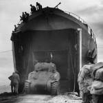 1st Tank Battalion M4A1 Offloads from USS LST 202 at Cape Gloucester 1944