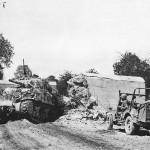 4th Armored Division M4 Sherman Tank 105 mm at Avranches 1944