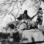 5th Army M4 Sherman Tank Hells A Fire near San Vittore Italy