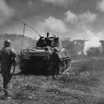 96th Infantry Division M4A2 Sherman Tank 14 Attack Against Japanese On Okinawa
