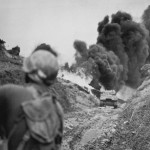 96th Infantry Division M4 Flame Thrower Tank Attack On Big Apple Ridge Okinawa
