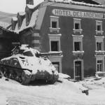 Beautepanzer M4 Sherman tank Battle of the Bulge Luxembourg