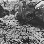 Bodies of US Infantrymen by M4 Tank in Santa Maria Infanta Italy 1944