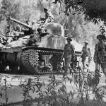 British M4 Sherman War Admiral in Action Italy 1943