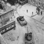 British Sherman Firefly Tanks with 17 Pounder Guns Normandy June 1944