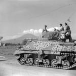 Camoflauged British M4 Sherman Tank named Sheik in Italy 1943