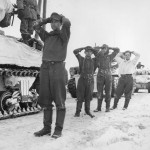 Captured German POW with M4 Sherman Tanks Battle of the Bulge Luxembourg