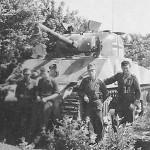 German M4 Sherman and crew