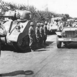 King George Inspects Line of M4 Sherman Mk III Tanks in North Africa 1943