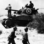 M4A1 Sherman Tank Named Eternity Leaves Red Beach Sicily Italy 10 July 1943