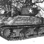 M4A3E2 Jumbo Sherman Tank Bastogne Battle of Bulge 4th Armored