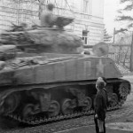 M4 Sherman 4th Armored Division 3rd Army in Gotha Germany 1945