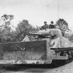M4 Sherman Dozer #6 named Apache Equipped with Pusher Blade Co A 746th Tank Battalion France July 1944