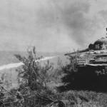 M4 Sherman Tank #86 Blasts Flame thrower Japanese Cave Okinawa 1945