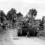 M4 Sherman Tank Heavily Camoflauged