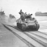 M4 Sherman Tank Ile de France Landing on Normandy Beach