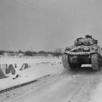 M4 Sherman Tank with winter camo Hennig Germany Battle of the Bulge January 1945