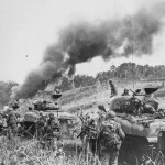 M4 Sherman Tanks About To Mop Up Japanese Troops Hollandia Dutch New Guinea