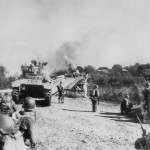 M4 Sherman Tanks Fighting Japanese At Subic Bay Philippines February 1945