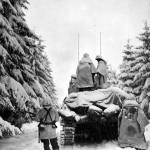 M4 Sherman in Snow Battle of Bulge