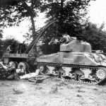 M4 Sherman named Hurricane 2nd Armored Div Normandy August 1944