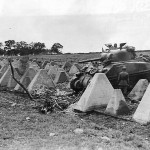 M4 Sherman of the 3rd Armored Division Crossing Dragons Teeth of Siegfried Line September 1944 Roeten