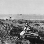 M4 Sherman of the 751st Tank Battalion Moves Inland from Nettuno Invasion Beach January 1944