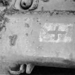 M4 Sherman tank with German Cross Battle of Bulge Luxembourg 1945